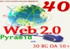 Do HQ Best 40 web2.0 Blog With Tire-2 BG