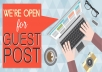 2 Do-follow Guest post with article for $5