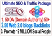 Ranking SEO & Social Campaigns- ​50 Web 2.0 blogs-50 DA (Domain Authority)-Submit Your any Link 12 Million Social site