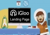 I Will Create Your Landing Page In IGloo App