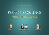 40 Pr9 + 20 Edu-Gov High Trust Authority Perfect Backlinks
