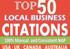 50 Best Local Citations-Yelp Manta - Complete Manual Work