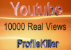 10000  views Very Fast Speed High Quality
