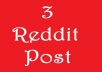 Reddit 3 Post On Your Link With Different SubReddit