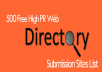 .  I WILL DO THE HIGH QUALITY 45 DIRECTORY                   Submissions Manually