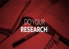 do in depth online research on any topic