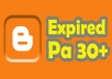 Give 2 expired blogspot Page Authority 30++