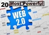 Manually doing 20 web 2.0 on High PR Back links DA 60+