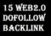 15 Whitehat Web2.0 Dofollow Backlinks (DA 50+)