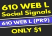 610+ High Quality PR9 Web Social Signals from the #1 Best Social Media Network