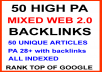 50 Mixed High PA 28+ Web 2.0 Backlinks for Ultimate RANK BLITZ