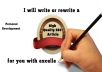 CONTENT Writing -Write For You  400 - 500  Words  Fresh and Original Article / Content On Personal Development  - Guaranteed !