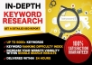 Provide In depth SEO Keyword research