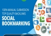 Manually submit your site to 80+ high PR social bookmarking sites