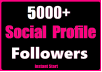 5000+ Social Profile Followers Start Instant