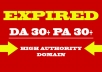 Niche Relevant SEO friendly High Pa Da Cf Tf Expired Domains