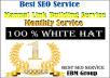 Guaranteed  White Hat SEO Service Manual link Building Best SEO Monthly Service