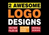 design 2 Awesome LOGO in 24hour
