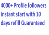 Instant start 4000+ Social followers via real User