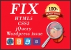 Fix WordPress sites css, html and other WordPress issues