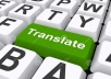 translate 100 words into any language of your choice... for $1