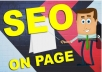 improve complete On Page SEO