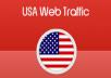 We will  accumulate 50k seo friendly niche targeted usa traffic