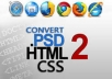 l do psd to html,css code your website