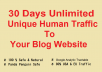 Get-30-Days-Unlimited-Unique-human-Traffic-To-Your-bl-for-25