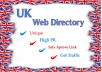 Submit 300 UK Directory Submission Manual  Your Blog,Site,Product Etc