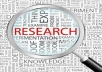 Do all kind of web Research, data scraping,data Mining and data Entry