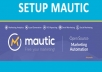 Setup fresh Mautic Marketing Automation platfotm