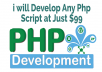 Develop Any Custom Php Website For You