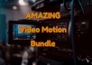 AMAZING Motion Video Bundle for Video Creation