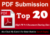 Manually Submit your Article in PDF Submission to Top 20 High PR 9 to 4 doc Sharing sites
