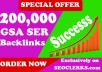 200,000 GSA SER SEO Backlinks