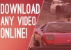 i can download and convert Any Online Videos