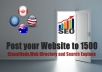 Post your Website to 1500 Classifieds,Web Directory and Search Engines