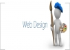 Website design with your layout and your design for $8