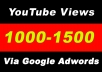Youtube Video Promotion 1000-1100 Audience Via Google Adwords