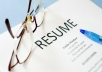 Provide RESUME, COVER LETTER  and LINKEDIN PROFILE writing services