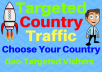 Provide You 1500 Targeted Country Traffic Choose your country