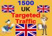 1500 UK TARGETED traffic to your web or blog site. Get Adsense safe and get Good Alexa rank
