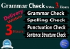 I will do for all of your proofreading & editing needs within 3 hours