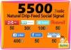 5500 SEO Drip Feed Social Signal from PR-9&PR-10 sites