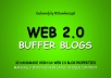 Handmade 10 Web 2.0 Blogs with Login, Unique Content