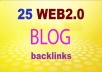 I will Create Manual 25+ HIGH DA Web2.0 Blog Network With niche related articles and Indexing