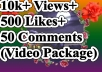 Package Service YouTube video promotion social media marketing