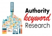 Keyword and Competitor Research Analysis For Any Niche