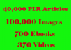 40,000-PLR-Articles 700-EBooks-100K-Images-370-Videos-On-Health-Fitness